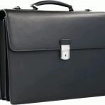 Business-Aktentasche in schwarzem Leder