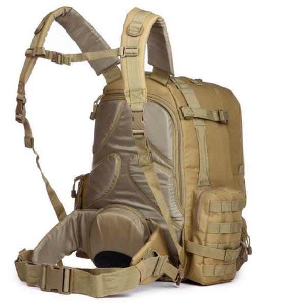 TTBP007LPTBRW Tactical Laptop Trekkingrucksack Beige Seite