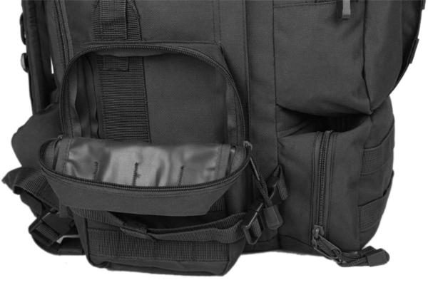 TTBP007LTBBLK Taktischer Outdoor Rucksack Seitentaschen